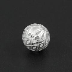 Бусина Касабланка резная 9 мм серебро 925