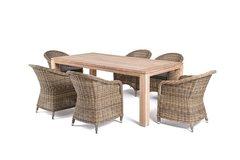 Обеденная группа со столом из тика 4sis Арбаро