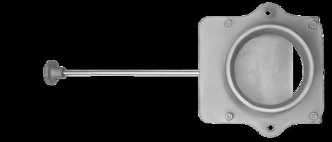 Чугунный шиберный блок ф130