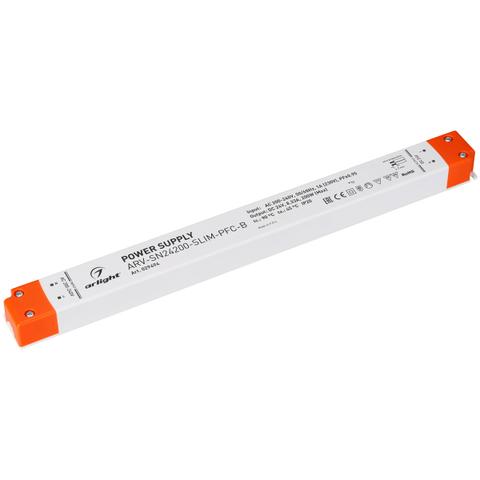 Блок питания ARV-SN24200-SLIM-PFC-B (24V, 8.33A, 200W) (ARL, IP20 Пластик, 3 года)