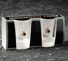 Стопки Непробиваемые, 2 шт., с пулей, 50 мл, фото 3