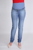 Джинсы для беременных (SLIM) 09343 синий