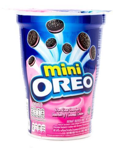 Oreo mini Strawberry Орео в стакане клубничный крем 67 гр