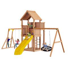 Детская площадка Jungle Palace + Swing + рукоход + сидушка