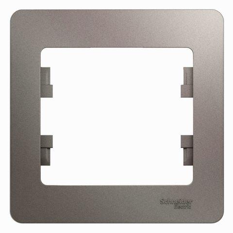 Рамка на 1 пост. Цвет Платина. Schneider Electric Glossa. GSL001201