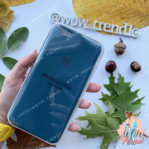 Чехол iPhone 6+/6s+ Silicone Case /cosmos blue/ космос 1:1