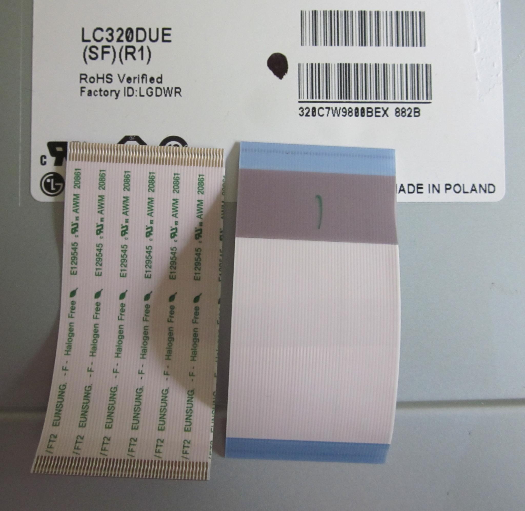 Шлейфы на матрицу LC320DUE (SF)(R1)