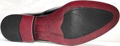 Классические мужские туфли натуральная кожа Ikoc 2118-6 Patent Black Leather.