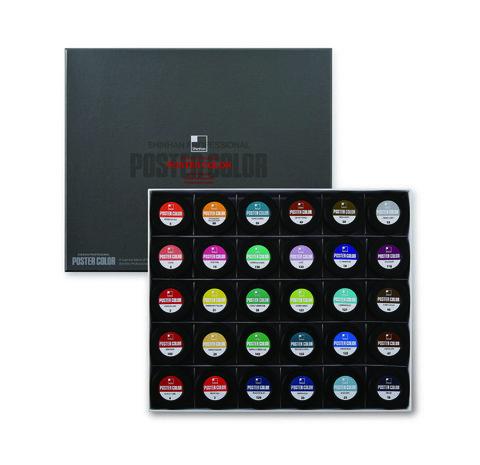Набор постерных красок ShinHanart POSTER COLOR PRO (В) 30 цветов, 40 мл
