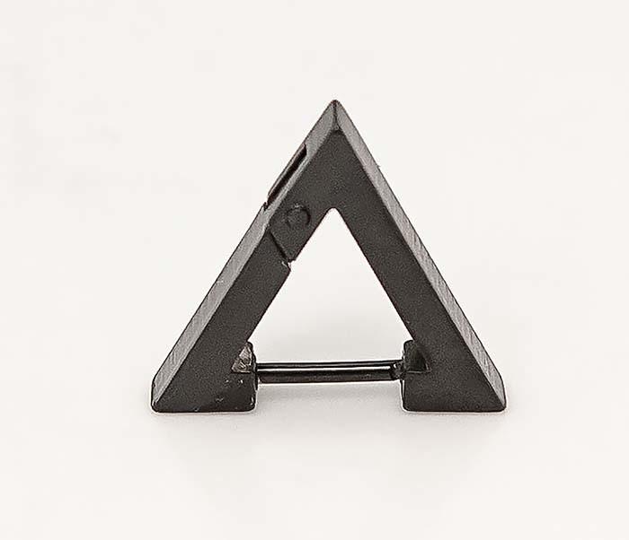 ER456-3 Черные мужские серьги треугольник фото 03