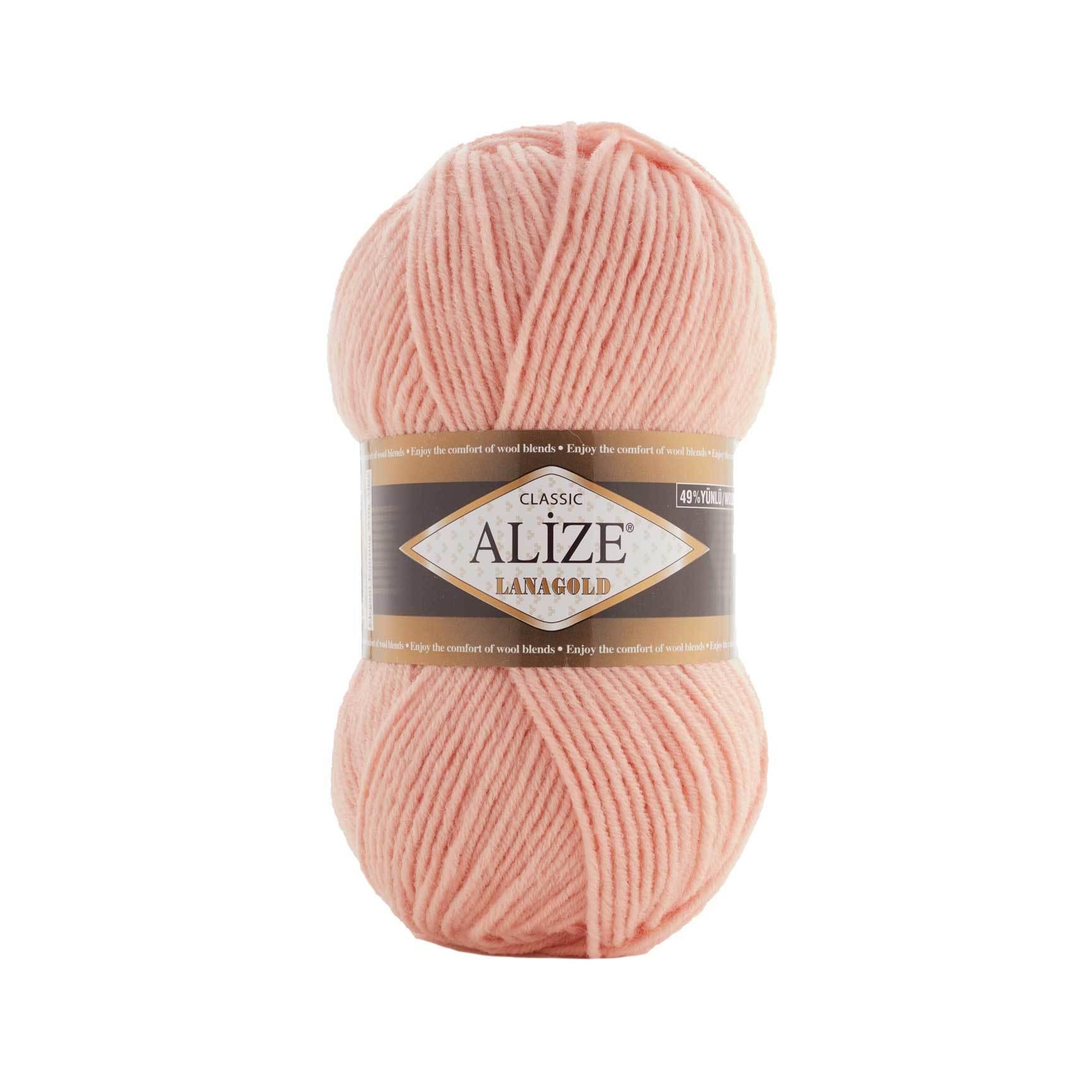 Пряжа Alize Lanagold 393 светлый персик