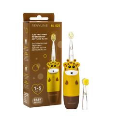 Детская звуковая электрическая зубная щётка Revyline RL 025 Yellow желтый (Ревилайн, Ревелайн для самых маленьких детей)