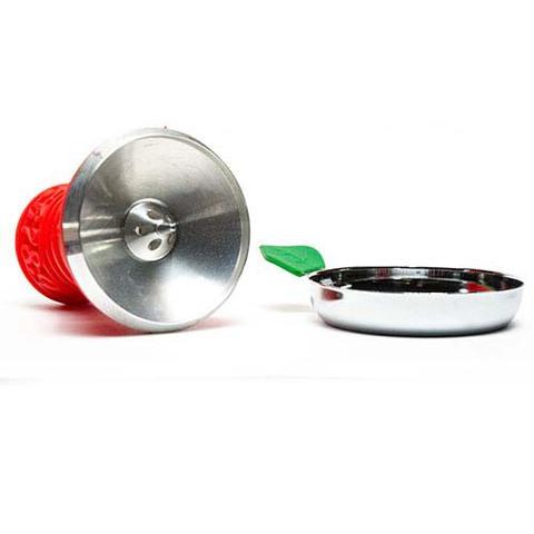 Чашка алюминиевая силиконовая вид изнутри