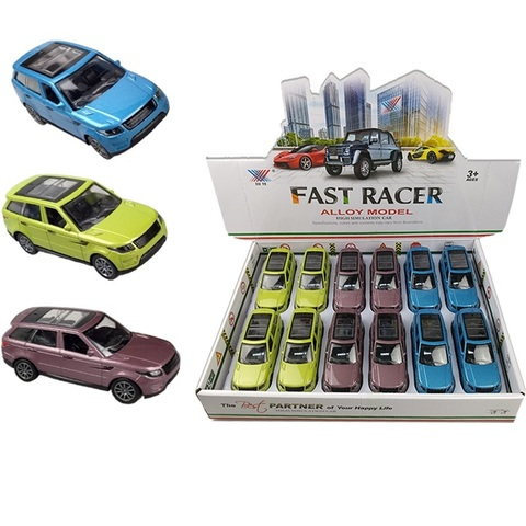 Набор машинок (в ассортименте) FAST RACER DIE CAST METAL Внедорожники № 1, 1кор*24бл*12шт