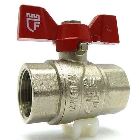 Кран шаровой для воды SD Forte 3/4 ВВ ручка бабочка