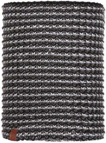 Шарф-труба вязаный с флисом Buff Neckwarmer Knitted Polar Dana Graphite фото 1