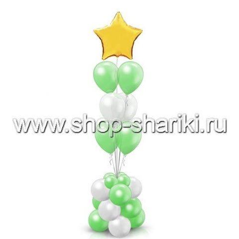 фонтан из шаров праздничный