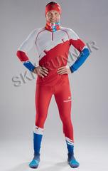 Детский Раздельный лыжный гоночный комбинезон NordSki Premium Red Rus