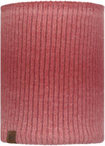 Вязаный шарф-труба с флисом Buff Neckwarmer Knitted Polar Marin Pink фото 1