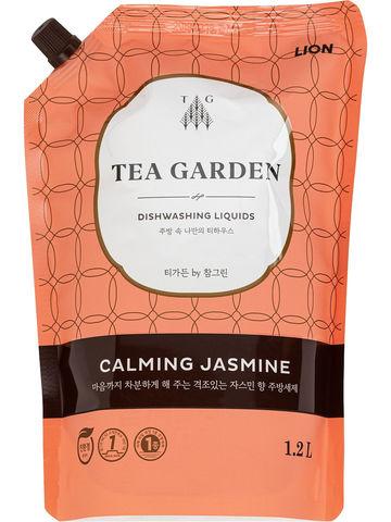 Lion Chamgreen Tea Garden Calming Jasmine Средство для мытья посуды Жасмин 1,2 л в мягкой упаковке