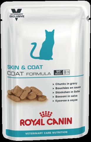 Влажный корм для кастрированных/стерилизованных котов и кошек с повышенной чувствительностью кожи и шерсти