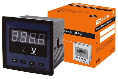 Цифровой вольтметр ЦП-В72 0-9999В-0,5-Р TDM