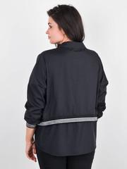 Діана. Оригінальна жіноча сорочка плюс сайз. Чорний.