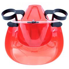 Пивная шляпа с подставками под банки, красная, фото 1