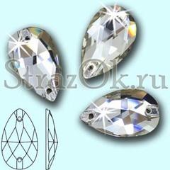 Стразы пришивные стеклянные Drope Crystal, Капля Кристал прозрачный на StrazOK.ru оптом