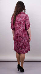 Палма. Гарна сукня-сорочка великих розмірів. Леопард рожевий.