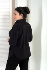 Айріс. Жіноча блуза великих розмірів. Чорний