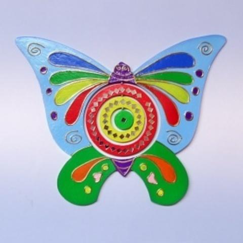 Спираль Бабочка с зеркалами цветная