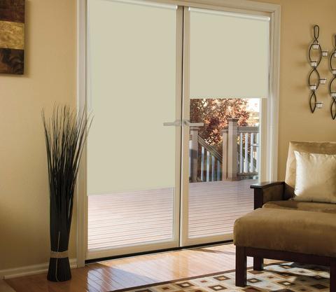 Миниролло для балконной двери светоотражающий Blackout крем
