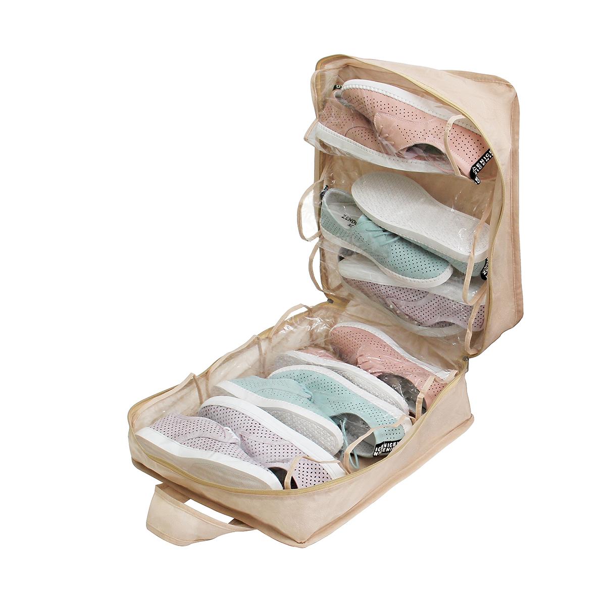 Чемодан для обуви 35х40х20 см, 6 ячеек, Каир