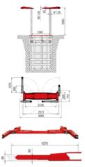 Подъёмник плунжерный для автосервиса BUTLER ALVAR 35 NA. Производство Италия. Грузоподъёмность 3,5 т.