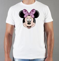 Футболка с принтом Минни Маус (Minnie Mouse) белая 001