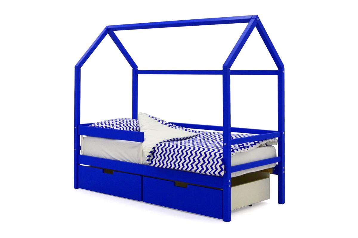 Кровать-домик «Svogen синий»