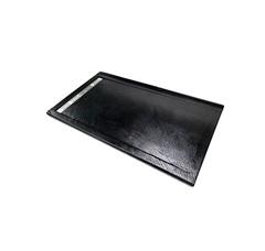 Душевой поддон WeltWasser WW TRS 10080 STONE-BL 100х80 см черный с сифоном
