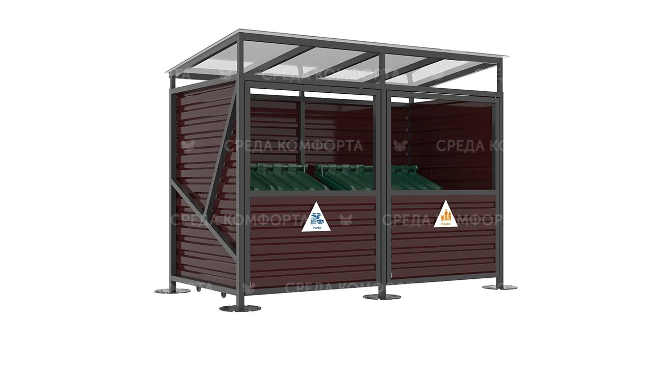 Контейнерная площадка ( с воротами) 3000х1500х2200 мм NVS0082