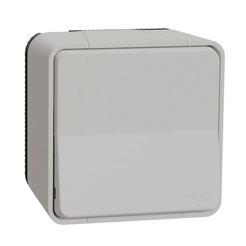 Выключатель одноклавишный в сборе. Цвет Белый. Schneider Electric(Шнайдер электрик). Mureva styl(Мурева стайл). MUR39026