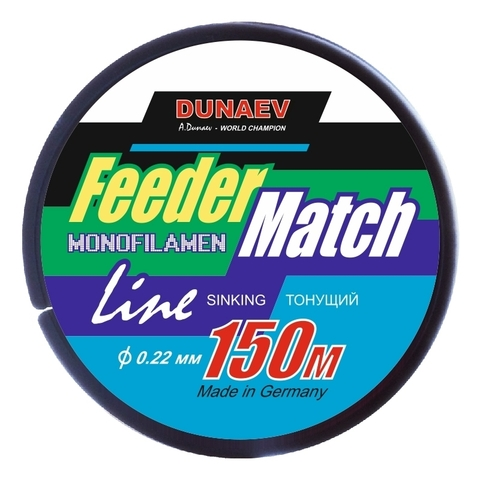 Леска Dunaev Feeder-Match Sinking Black 0.22мм 150м