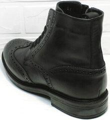 Мужские кожаные зимние ботинки на молнии  LucianoBelliniBC3801L-Black .