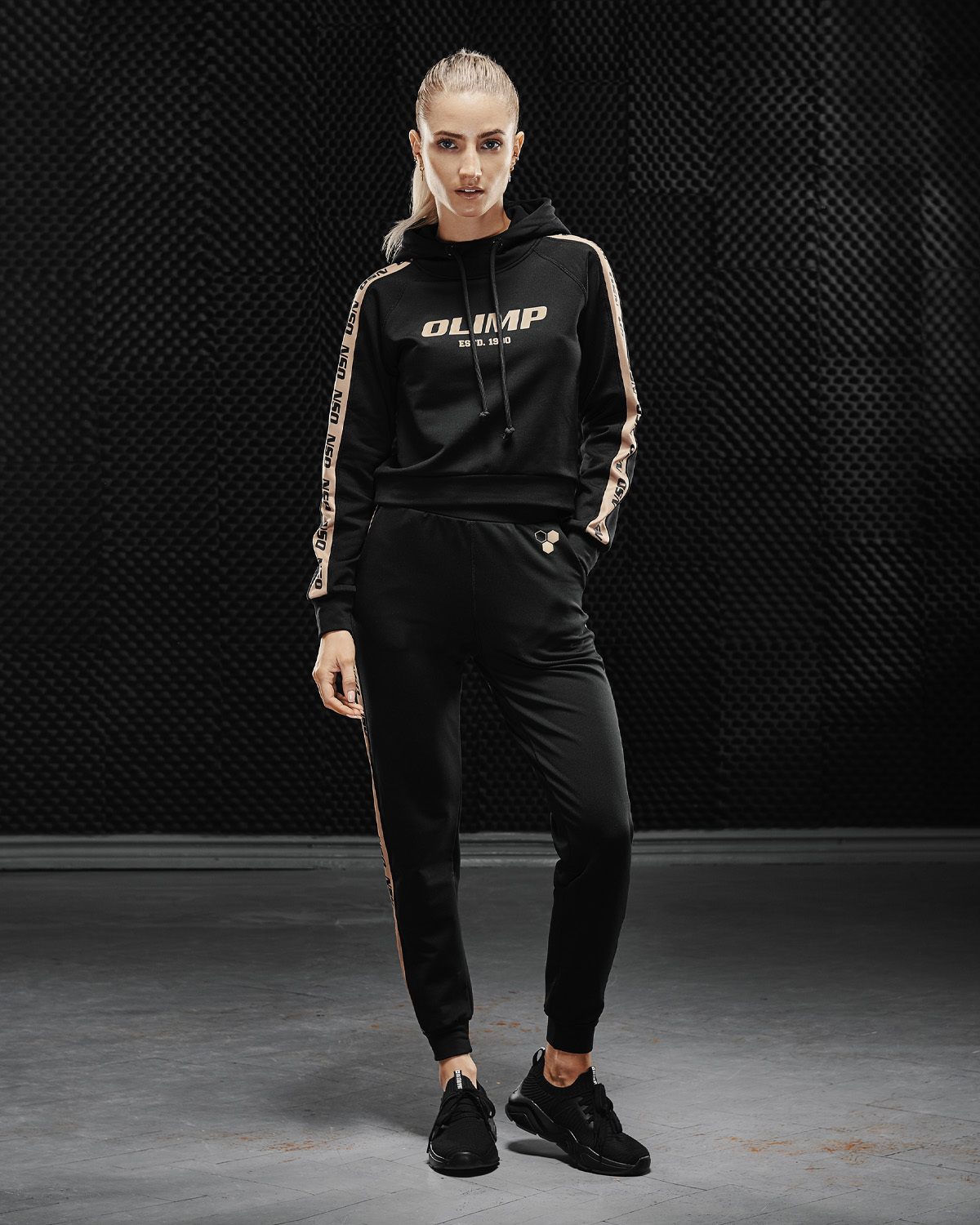 Штаны женские Olimp Tracksuit Bottom Gold Series Black