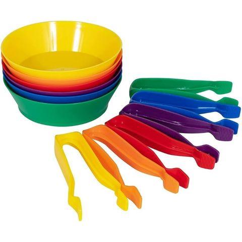 Обучающий набор Чашки и пинцеты для сортировки (12 элементов) Edx education, арт. 13905