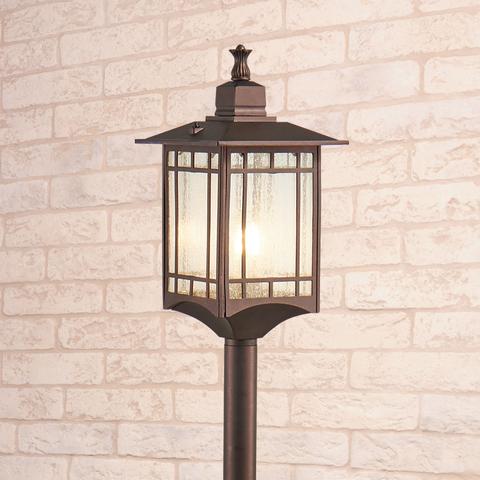 Vela F кофейное золото уличный светильник на столбе IP44 GL 1019F