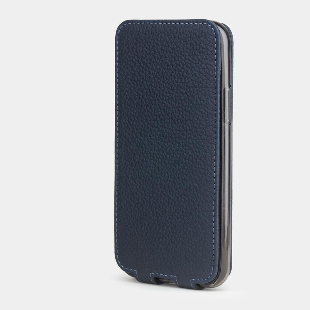 Чехол для iPhone 11 Pro Max из натуральной кожи теленка, цвета синий мат