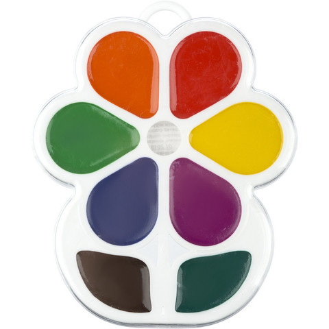 Акварельные краски Луч Цветочек медовые 8 цветов
