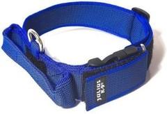 Ошейник для собак JULIUS-K9 Color & Gray с закрытой ручкой, сине-серый