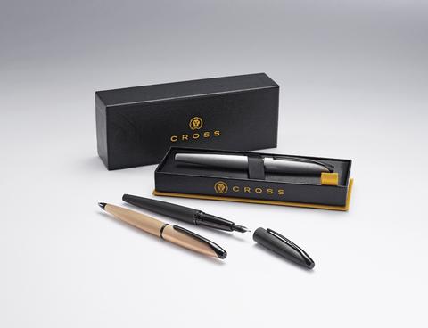 Cross ATX - Brushed Black PVD, шариковая ручка123