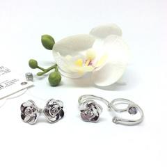 94011885 - Разъемное кольцо из серебра с фианитом